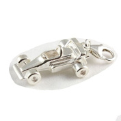 Sterling Silver Formula One / F1 Racing Car Clip On Charm - With 11mm Clasp
