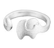 Hosaire Elegant Scrub Elephant Diamond Ring Crystal Open Rings Wedding Jewellery For Women-It Can Be adjustable