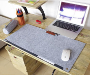 Anne as Multi-Functional Felt Table Mat Laptop Keyboard Mouse Pad for Home and Office, Grey