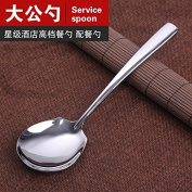 Stainless Steel Service Spoon Thickened Tablespoon Cutlery 3 Installed