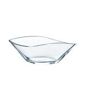 """Oval decorative bowl / fruit bowl AKIRA, clear glass, 7"""" x 4.3"""" x 2.6""""/18,5x11x6,5cm - Glass bowl / Snack bowl - INNA Glas"""
