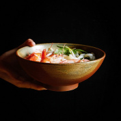 Japanese-Style Ceramic Tableware Creative Ramen Bowl Large-Capacity Soup Bowl Fruit Salad Bowl / 18cm