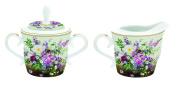 Easy Life Porcelain Sugar Bowl and Milk Jug – 18.5 x 9.5 x 9.5 cm