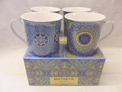 Set of 4 gift boxed China Palace Mugs in assorted Batista designs