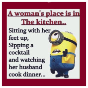 Funny Minions A Woman's Place Is In The Kitchen - COASTER