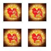 FOUR Chinese New Year 2018 Year of the Dog Drinks Mug Coaster Chinese New Year Gift Idea February 16th 2018