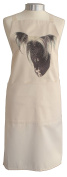 Chinese Crested (c) Breed of Dog Themed Natural Cream Cotton Bib Apron - Baker Cook Gift