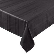 Coin Home 495752 Zefiro 100% Egyptian Cotton Jacquard Tablecloth, Black, 140 x 140 x 0.5 cm