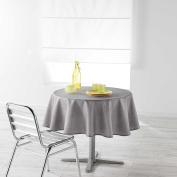 Douceur d 'Intérieur Newton, Polyester, grey, 180 x 180 cm Tablecloth Round 180 cm Plain Chambray