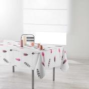 Douceur d 'Intérieur Rectangular Tablecloth 150 x 240 cm Printed Evanescence, Polyester, white, 240 x 150 cm