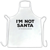 Funny Christmas Apron I'm Not Santa But You Can Still Be My Ho Festive Provactive Funny Hilarious Seasonal Present Gift Cool Funny Gift Present