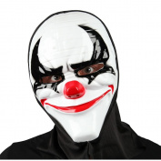 Adult Unisex Freaky Clown Halloween Mask with Hood