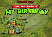 20 x Ninja Turtle birthday Party Invitations With 20 FREE Envelopes