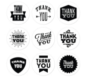 Wicemoon Sealing Stickers Wedding and Party Favour Letter Seals Gift Label Thank You Sealing Stickers Balck and White 5 Sheets