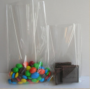 Syndecho 100pcs 15cm x 20cm Clear Flat Treat Bags Cello Cellophane Treat Bags Party Wedding Favour Bags