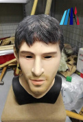 MASCARELLO® Realistic Latex Mask Handsome Male Man Disguise Halloween Fancy Dress Messi Look