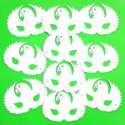 10 Plain Card Parrot Face Masks - Colour in Create Your Own Design