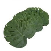 Chinget 12pcs Artificial Tropical Leaves Table Decorations Beach Theme Party Decoration