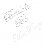 Sharplace Clear Hen Party Bride to Be Motif Rhinestone Stickers DIY Wedding Party Wine Toasting Glass Stickers Transfer