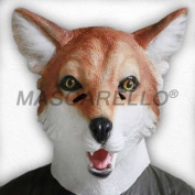MASCARELLO® Latex Full Head Animal Realistic Fox High Quality Fancy Dress Stag Carnival Mask