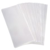 SelfTek 100Pcs Cellophane Bags Plastic OPP Bags for Cookie, Bakery, Candy and Gift
