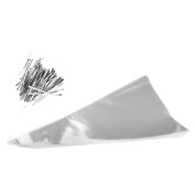 100Pcs Clear Cellophane Cone Shaped Sweet Candy Christmas Party Favour Gift Bags