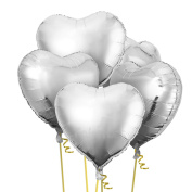 70cm Heart Shape Foil Mylar Helium Balloon Birthday Party Decoration Foil Balloons 5 Pcs