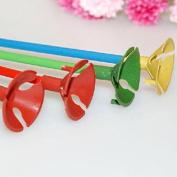 20 Pcs Random Colour Plastic Balloon Prop Rod Holder Sticks with Cup Wedding Party Decor