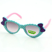 Dairyshop UV 400 Plastic Colour Cute Round Style Girl Bow Children Sunglasses for Party Prop Favours, Decorations, Toy Gifts