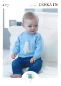 4 Ply Pattern for Baby Embroidered Sweaters
