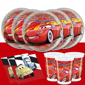 Disney Cars Lightning McQueen Party Tableware Pack Kit Set For 16 Guests