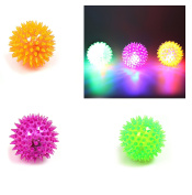 2 x HKM Jokes GAGS Light Up SPIKEY BALL -Fiddle Fidget Stress SENSORY TOY Autism ADHD Toy, CATCH It, THROW It, SQUEEZE It & Mobile Eraser