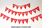 """Large banner """"HAPPY RETIREMENT YOU LUCKY COW"""" Retirement Banner Bunting - Adult Funny Decoration, Office prank"""