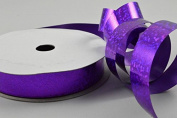 15mm Metallic Holographic Spotted Coloured Polypropylene Ribbon x 10 Metre Rolls!!