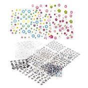 Skyeye 50Pcs Fashion Water Transfer Flower Women Stickers Nail Art Acrylic Manicure Tips Multicolor