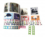 Pretty Cute Perforated Planner Washi Set - 6 rolls perforated, wide and narrow tapes