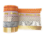 Marble Modern Peach Gold Foil Washi Tape - 7 rolls each 10 metres - journaling, card making, scrapbooking