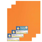 """Craft Planet 9 x 12"""" Funky Foam 2mm Thick (Pack of 3) - Orange"""