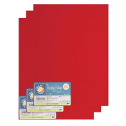 """Craft Planet 9 x 12"""" Funky Foam 2mm Thick (Pack of 3) - Red"""