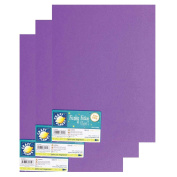 "Craft Planet 9 x 12"" Funky Foam 2mm Thick (Pack of 3) - Purple"