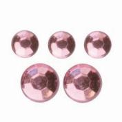 Glorex P & D Self-Adhesive Mini-Chain Diamonds 2/3 mm 22 for Strip, Plastic, pink, 14.5 x 8.6 x 0.2 cm