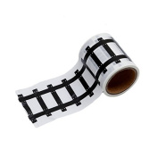 F-eshiat Railway Road Adhesive Tape Toy for Kids Black