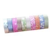 ShenTan 5x DIY Self Adhesive Glitter Washi Masking Tape Sticker Craft Decor 15mmx3m