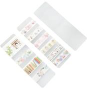 ShenTan 5pcs Cartoon Paper Tape Stickers DIY Scrapbook Masking Tape School Office