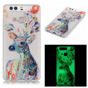 Huawei P9 Luminous Case ,BONROY® Creative Unique Design Fluorescent Green Effect Night Glow In The Dark ,Soft TPU Cover Ultra Thin Anti-Scratch Shock Protective Back Case Cover Shell for Huawei P9