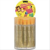 UHU 359272 (24) and Glitter, 20 ml Bottle, Gold