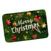 MagiDeal Non Slip Bath Mat Floor Entrance Door Mat Indoor Doormat Xmas Decor - Merry Christmas - Merry Christmas 2, 40x 60cm