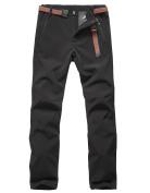 TOFERN Womens/Ladies Winter Softshell Pants Thicken Fleece -22°F Waterproof Scratch-resistant Outdoor Climbing Hiking Trouser