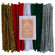Art Straws CT4054 150 mm Christmas Pipe Cleaners Tinsel