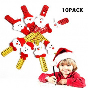Slap Bracelets Kids Wrist Bands Party Supplies Xmas Christmas Snowman Santa Fun Gifts Decoration
